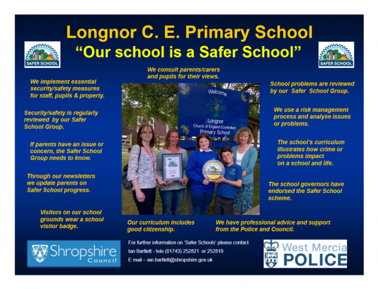 Safer School Poster
